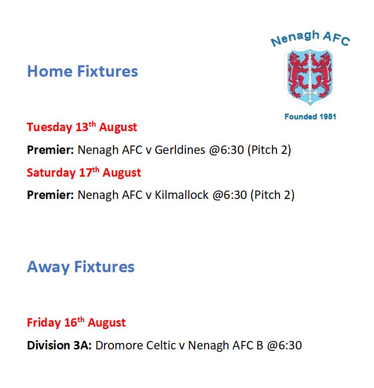 Nenagh AFC Fixtures